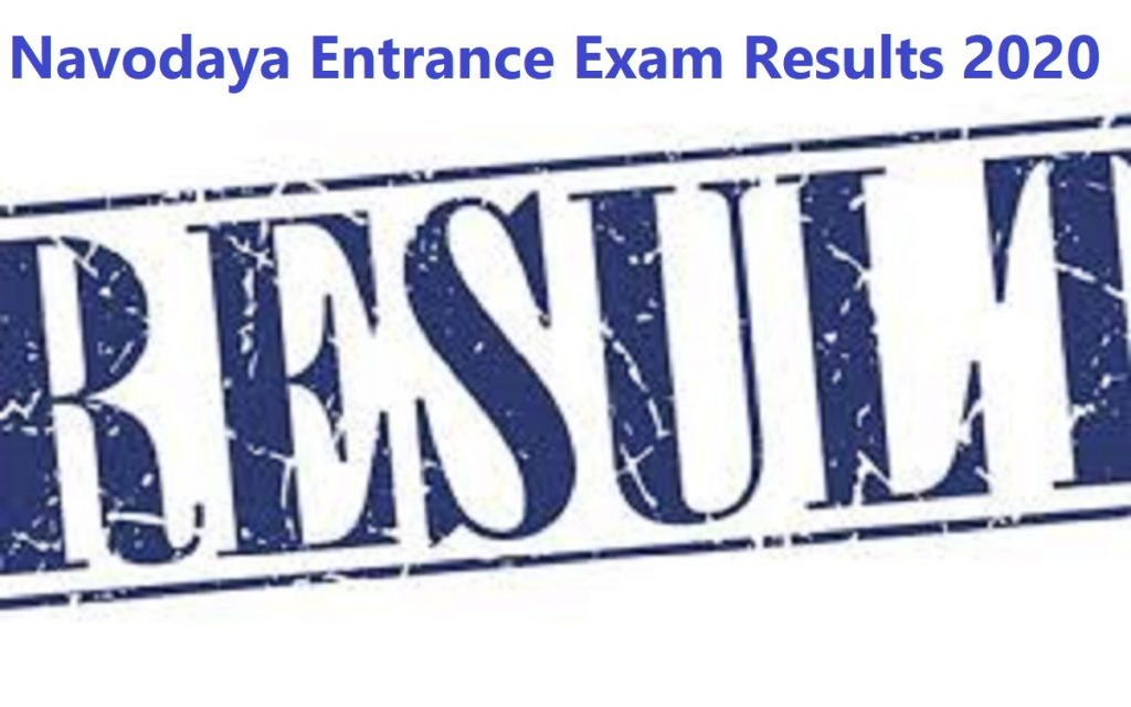 Navodaya Entrance Exam Results 2020